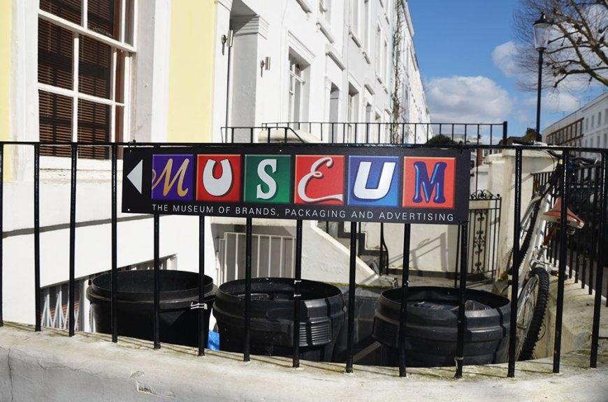 Entrée du musée des marques et des packagings, Londres