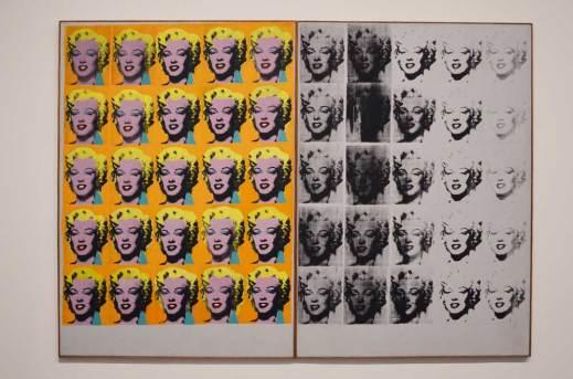 Tableau des Marilyn de Warhol, Tate Modern, Londres