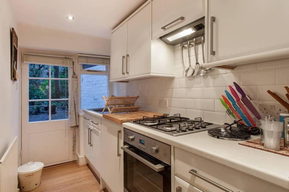 Cuisine d'un appartement londonien typique
