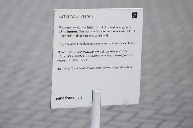 Panneau du musée Anne Frank, Amsterdam