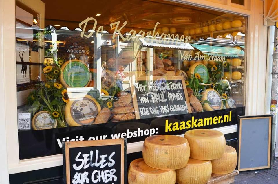 Façade d'un magasin de fromage, Amsterdam
