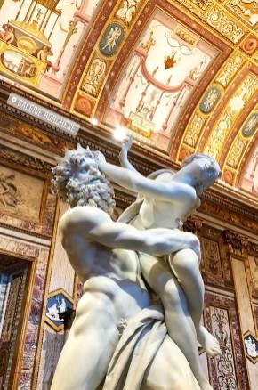 Sculpture de la Galleria Borghese, Rome, Italie