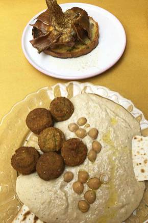 Mets du déjeuner dans le quartier juif, Rome, Italie