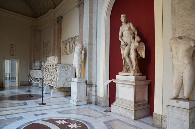 Sculptures intérieurs du musée du Vatican, Rome, Italie