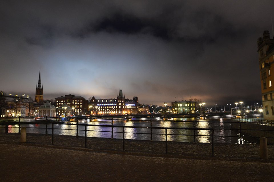 Nuit à Gamla Stan, Stockholm, Suède