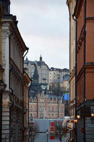 Ruelle du quartier de Gamla Stan, Stockholm, Suède
