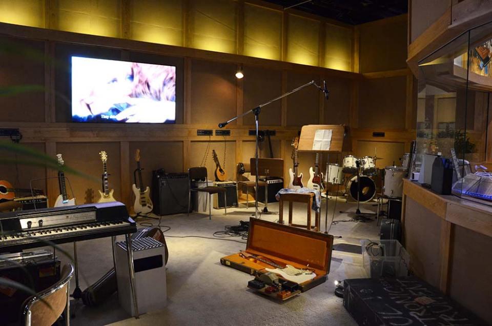 Studio d'enregistrement des 4 musiciens d'Abba au Musée Abba, Stockholm, Suède
