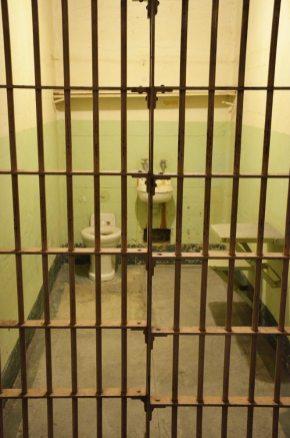 Cellule de la prison d'Alcatraz, San Francisco, USA