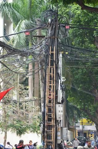 Système électrique, Hanoi, Vietnam