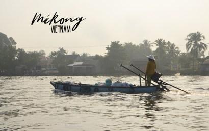 Bateau sur Mékong, Vietnam