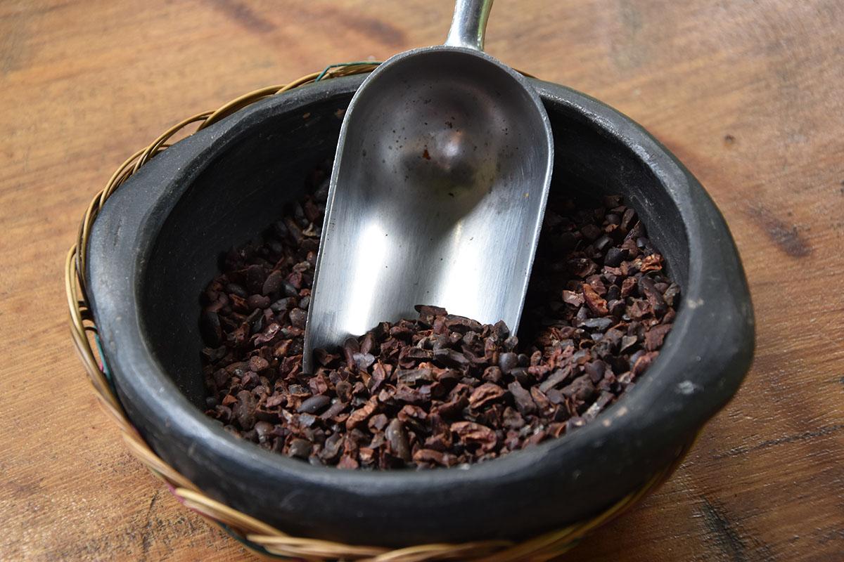Copeaux de chocolat de la Finca La Amistad Cacao Lodge au Costa Rica