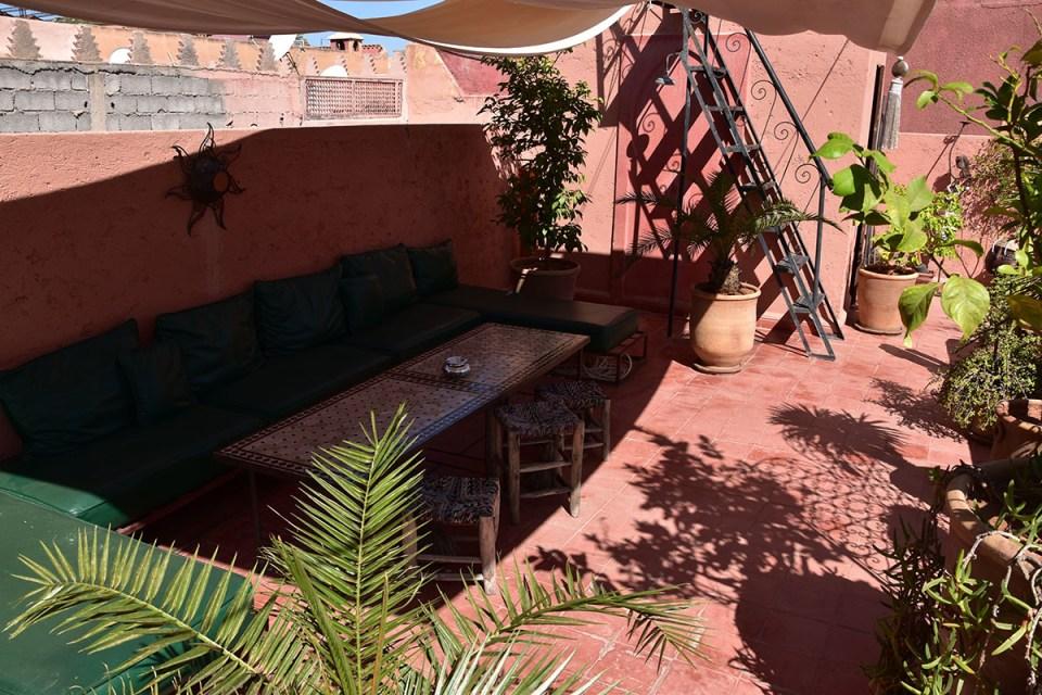 Toit terrasse du Riad des Drôles, Marrakech