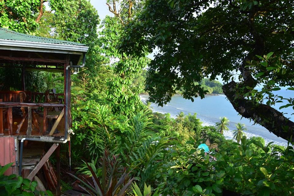 Vue depuis notre lodge à Bahia Drake, Costa Rica