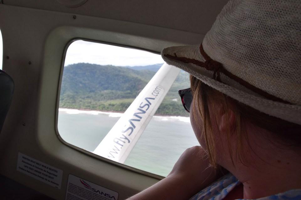 Vue sur le Corcovado depuis l'avion direction San José, Costa Rica