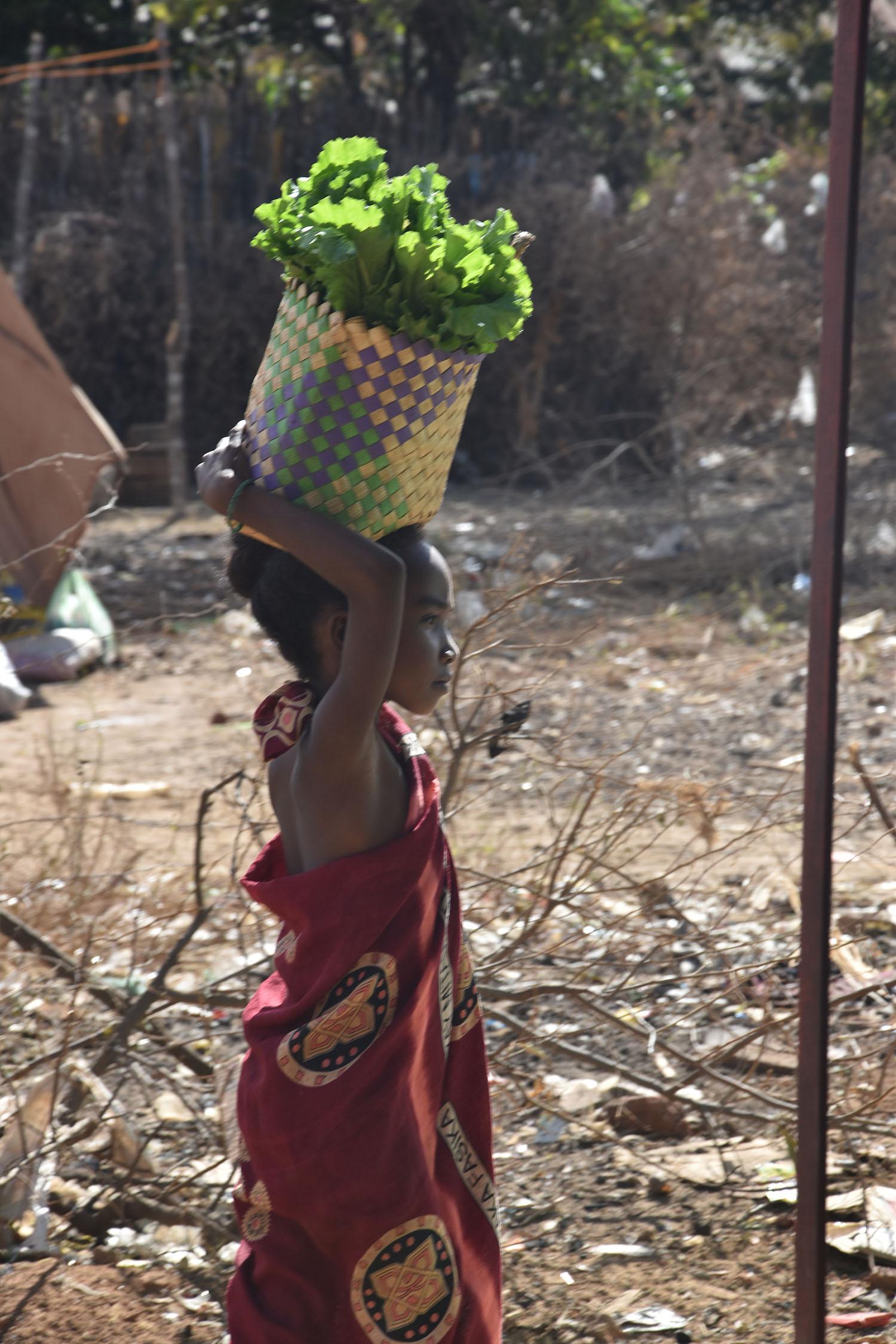 Au marché, village de Brousse, Madagascar