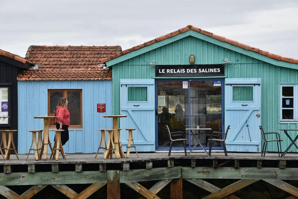 Façade du restaurant Le Relais des Salines, Ile d'Oléron