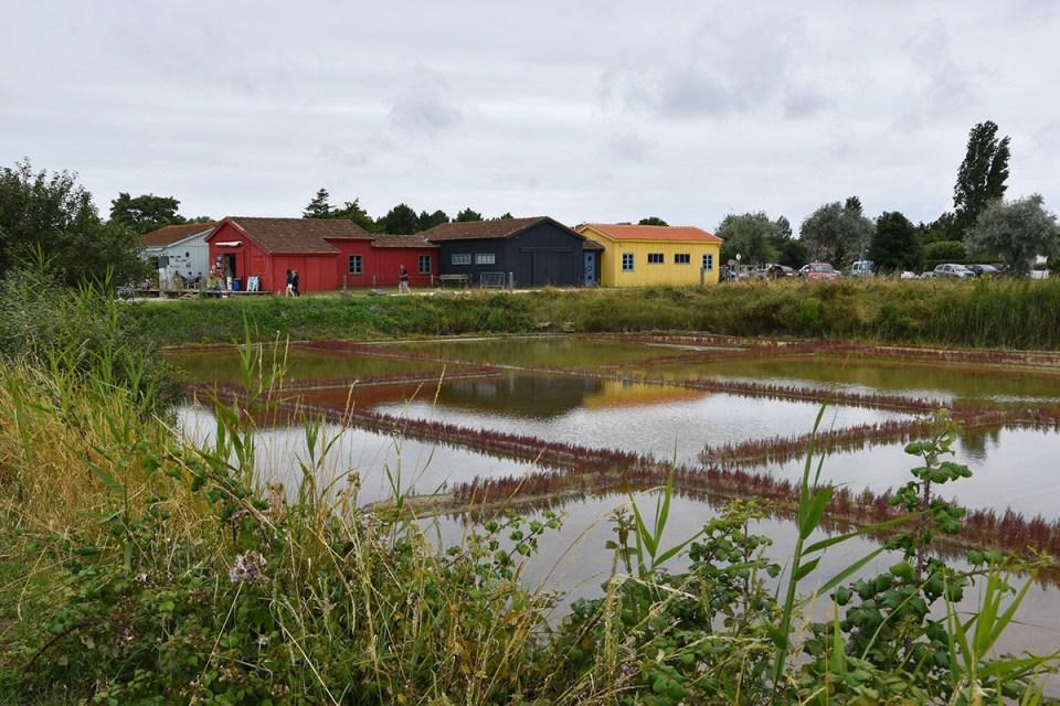 Vue sur les marais salants du Port des Salines, Ile d'Oléron