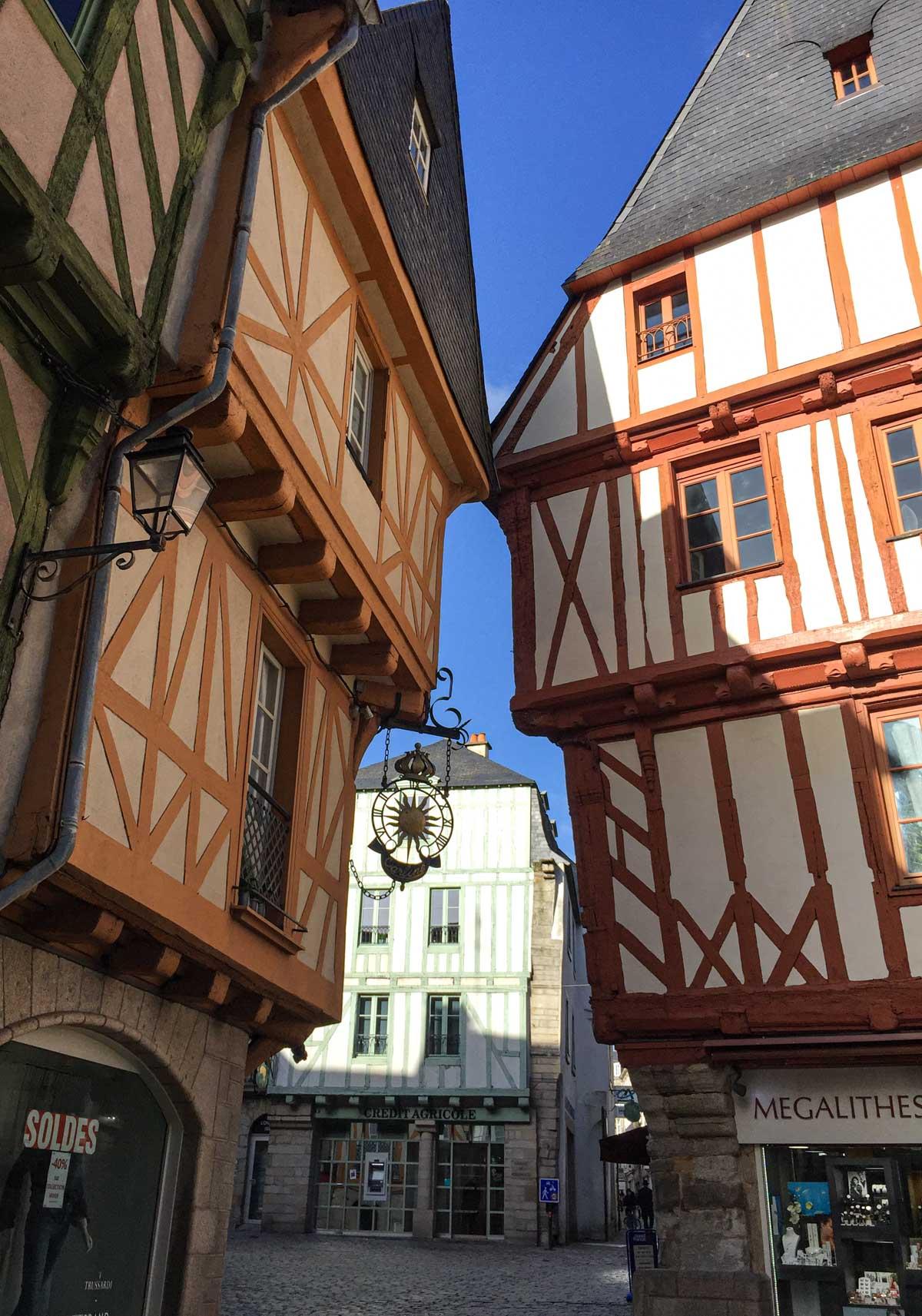 Les rues de Vannes, Morbihan, Bretagne