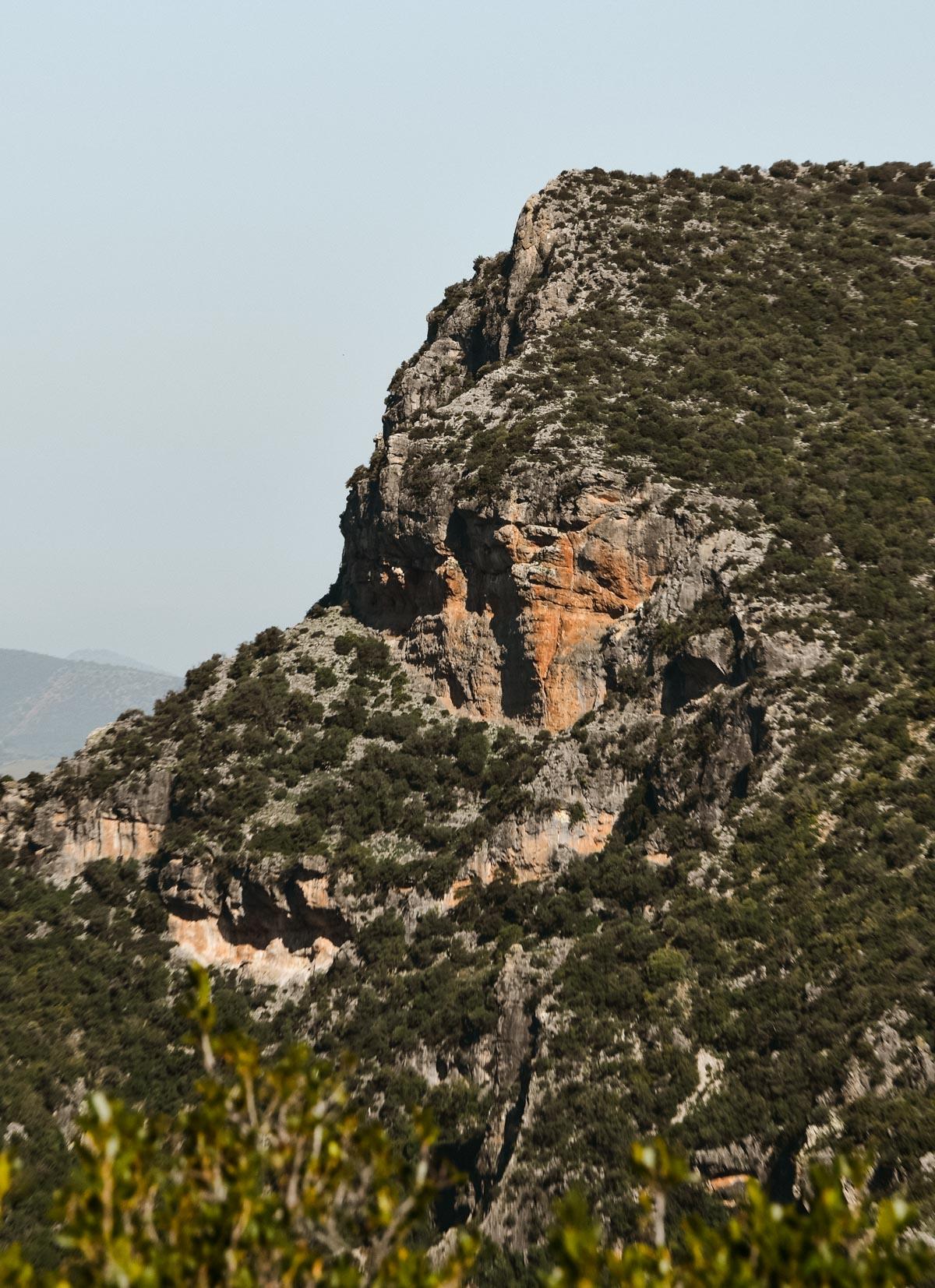 Zoom sur les montagnes de Grazalema, Andalousie