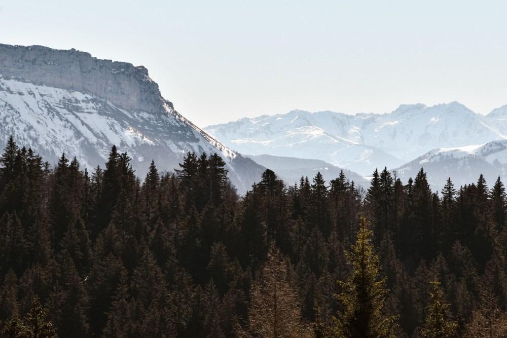 Sommets enneigés, Mont Revard, Savoie