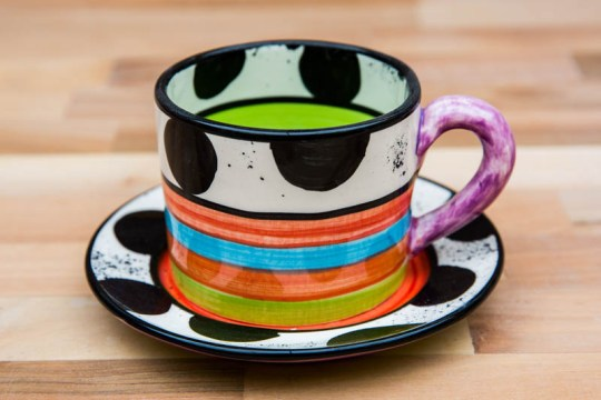 Hi-Life Gaudy small cup and saucer in Spot