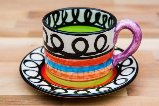 Hi-Life Gaudy small cup and saucer in Scribble