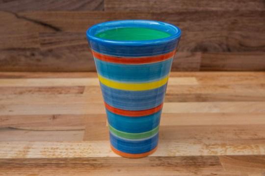 Horizontal Stripey small vase in Blue