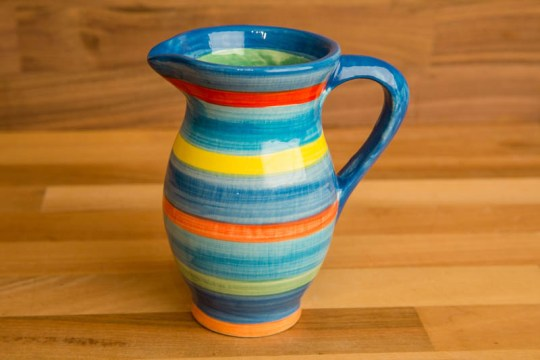 Horizontal Stripey creamer jug in Blue