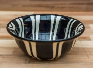 Black and White cereal bowl in Broad Stripe