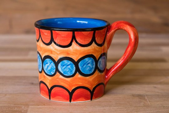 Fruity wide parallel mug in Red