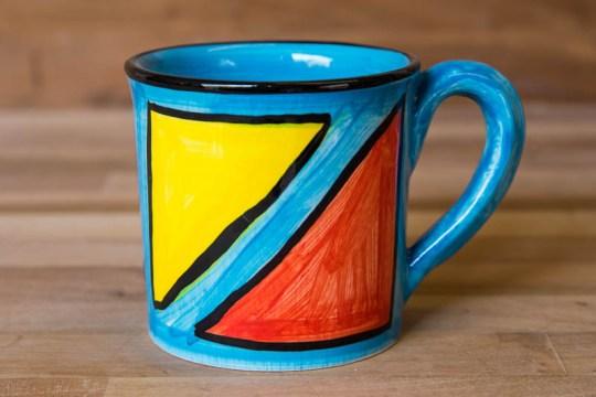 Carnival wide parallel mug in Pale Blue