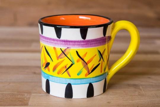 Splash wide mug in Yellow