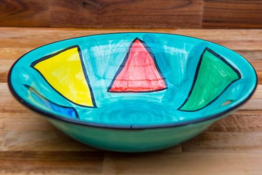 Carnival pasta bowl in Sea Green