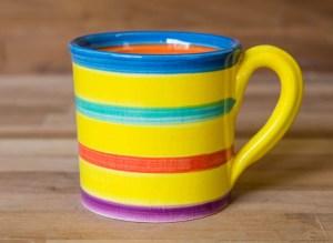 Horizontal Stripey yellow Reckless Designs