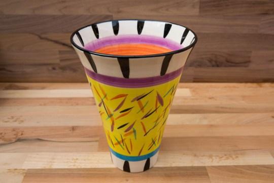 Splash large vase in Yellow