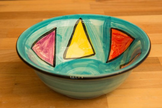 Carnival cereal bowl in Sea Green