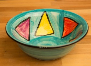 Carnival cereal bowl in Sea Green