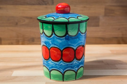 Fruity tea caddy in Green