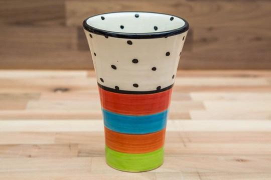 Hi-Life Gaudy small vase in Polka Dot