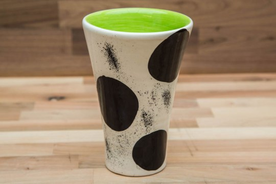Black and White large vase in Spot