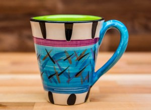 Splash large tapered mug in pale blue