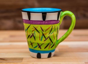 Splash large tapered mug in Lime Green