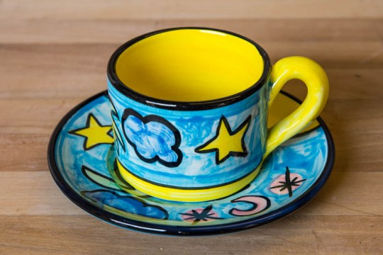Fruity small cup and saucer in Baga