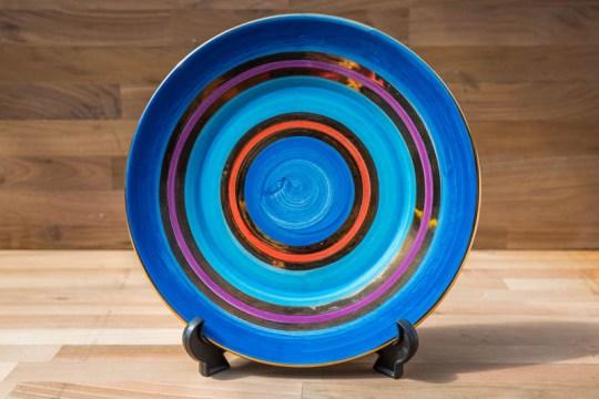 Lustre Horizontal 11″ dinner plate in No.01