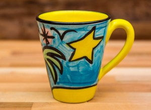 Fruity large tapered mug in baga