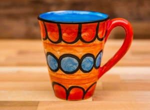 Fruity large tapered mug in Red