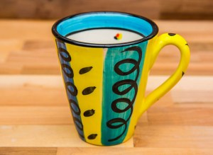 Vertical Stripey large tapered mug in Multi