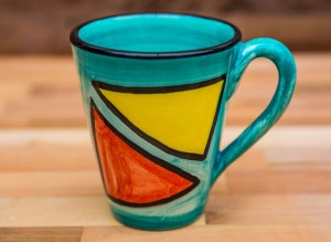 Carnival large tapered mug in Sea Green