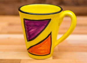 Carnival large tapered mug in Yellow