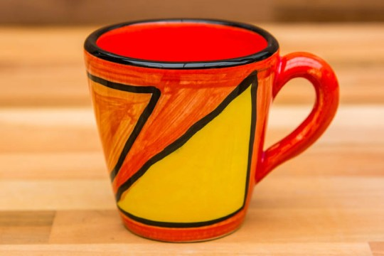 Carnival small tapered mug in Red